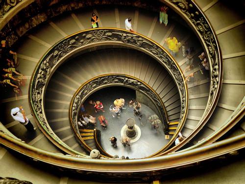 Taking photos at Vatican Museum. Ferragosto 2008