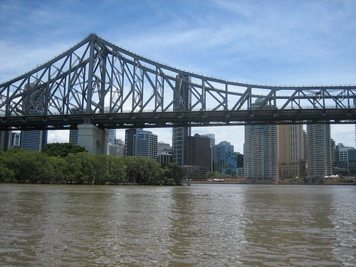 View from Kangaroo Point towards Story Bridge and downtown