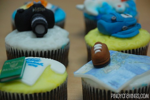 Travel Themed Fondant Cupcakes