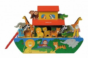Giant Wooden Noah's Ark with Animals