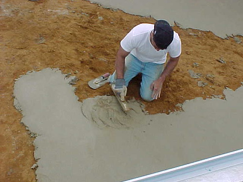 Forming Bottom of Pool