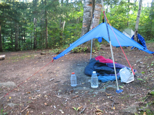Poncho tarp and bivy camping Sonju Lake