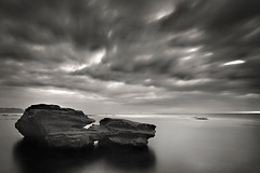 North Bungan B&W...again (Tim Donnelly (TimboDon)) Tags: ocean sea bw white black clouds rocks australia nsw bungan mywinners visiongroup theperfectphotographer