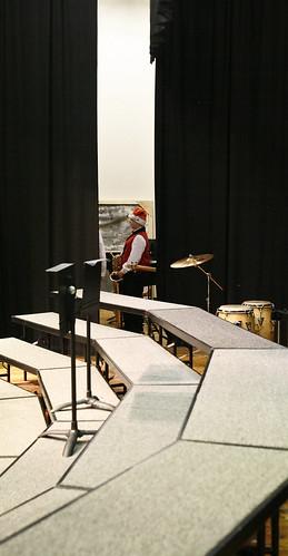 Backstage Musical Santa Elf.