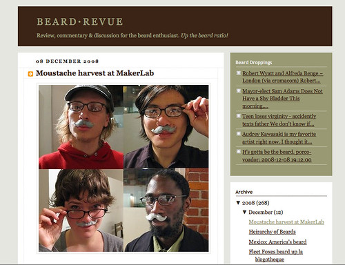 (WTF, we made the beard·revue) Mustache harvest at MakerLab