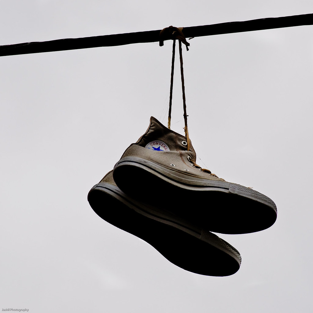 Shoes Hanging On Power Lines Australia