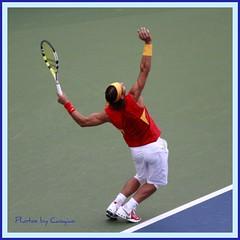 纳达尔教你打网球--大鹏展翅 (草    桥) Tags: sports beijing games tennis 北京 olympic 2008 nadal 网球 奥运会 比赛 olympicgame 示范 纳达尔 网球课堂