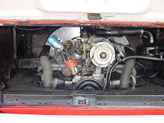 1965 VW Bus - engine compartment