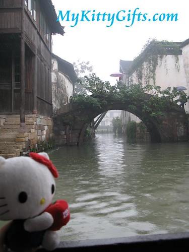 Hello Kitty's View of Arch Bridge in Wu Zhen