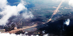 Aerial View of Yangon-Naypyidaw highway by clkr