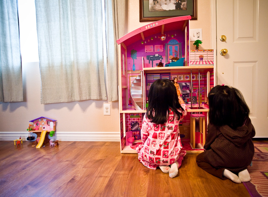 Our lil doll house never stood a chance.