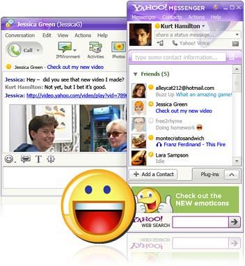 Giao diện Yahoo Messenger 9.0 US