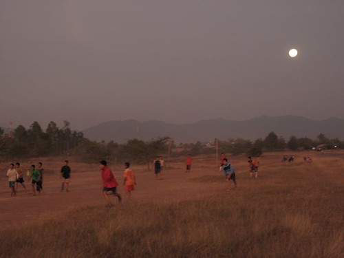 football by moonlight
