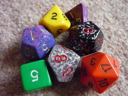 Dungeons & Dragons dice 2 by lydia_shiningbrightly, on Flickr