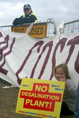 Desalination protest