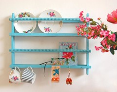 turquoise & pink (ATLITW) Tags: pink blue inspiration bird happy display blossom turquoise cups eclectic homedecor sfgirlbybay alltheluckintheworld janeschouten