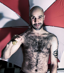 Red Umbrella (miserablespice) Tags: hairy man men fur hairymen hairyman veryhairymen britishmen hairyguys fyff flashyourfurfriday extremelyhairy
