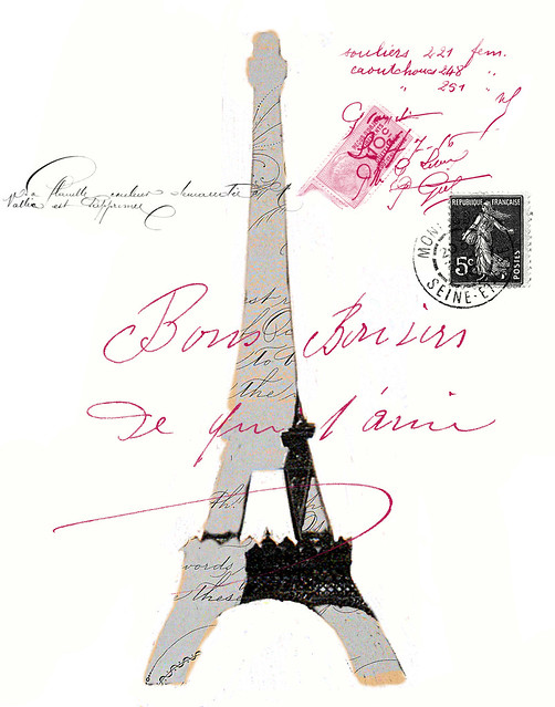 Eiffel  with french brushes from Leslie Nicole