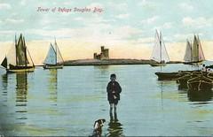 boy dog boats kid child unitedkingdom postcard sails photograph douglas isleofman manx wordsworth williamwordsworth towerofrefuge douglasbay johnwelch doolish stmarysisle conisterrocks manxsun