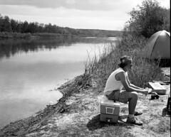 (VKozhushner) Tags: camping blackandwhite bw film mediumformat dof xp2 alberta 6x7 ilfordxp2 90mm ilford koni sunny16 ilfordfilm koniomegarapid koniomegarapid100
