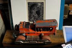 Hubley (omoo) Tags: newyorkcity tractor art vintage toy apartment interior westvillage antiques greenwichvillage 249 hubley metaltoy cribbageboard c1984 orangetractor wolfdancer hubleytractor bulldozermissingscoop madeatthemainestateprison ruthsylvanusantel