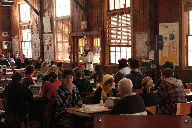 Dining Hall during Town Meeting