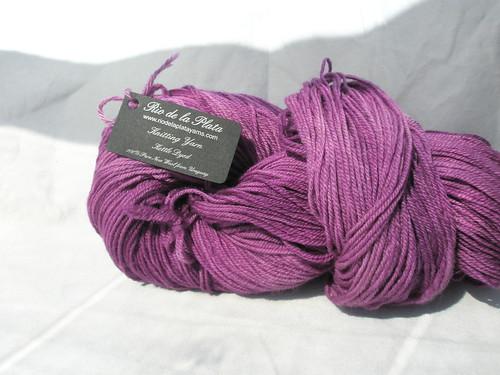 Rio de la Plata sock yarn in Grape
