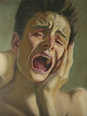 Inner Scream (Self-Portrait) 1985 by Stephen B Whatley (Stephen B Whatley) Tags: uk selfportrait male art norway youth student artist norfolk agony scream norwich despair munch thescream grief edvardmunch photorealist stephenbwhatley norwichschoolofart