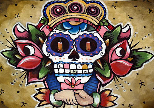 day of dead skull tattoos. day of dead skull tattoos. day