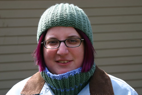 Urban Urchin (hat) and mistake rib neckwarmer