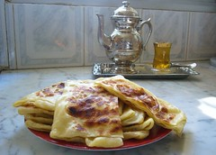 Mesemen / Maarek with Tea....Enjoy ;-) (Algeria888 ( G.Zoua )) Tags: food cooking cup cuisine algeria tea handmade traditional traditions craft celebration homemade oil teapot blida mehadjeb cuisinealgrienne