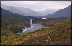 Loch Affric (spodzone) Tags: morning autumn mountains nature composition landscape scotland highlands nikon heather loch d200 dslr distance glenaffric mellow affric caledonianforest naturewatcher