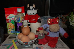 Egg Kemistry (Eldritch_the_dragon) Tags: red holiday bunnies easter toy cow dragon cows brothers kinder moo plush surprise eggs morris bamburgh eldritch
