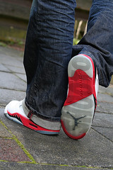 WDYWT - Air Jordan V (SHOOTO) Tags: 350d rebel 50mm nederland thenetherlands sneakers retro airjordan firered shooto nikeairjordan airjordan5 airjordanv wdywt