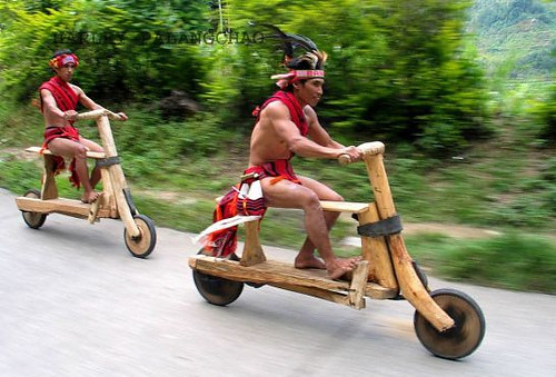 Wood bike race
