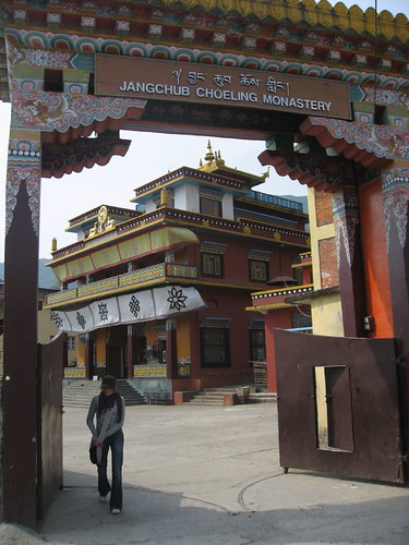 Gela leaving Jangchub Choeling Monastary (Tibetan)