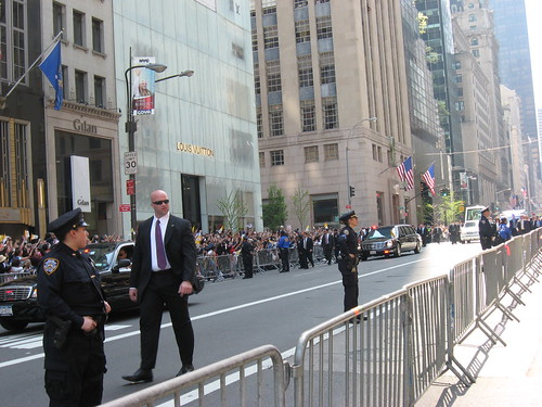 Pope Benedict XVI: Motorcade at 1:15 PM (from St Patrick's Cathedral)