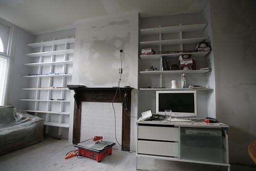 Shelf by Fireplace