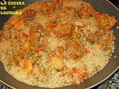 Paella mixta arroz paellera