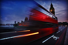 London in Motion (althani_1986) Tags: road uk england 3 motion bus london big ben iloveu fdaitek hawaalrayyanfav yalshai5