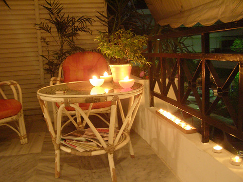 Candle light veranda