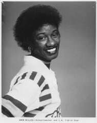 "Superstar of the Roller Derby, Gwen ""Skinny Minnie"" Miller, School teacher and L.A. T-bird Legend (stevesobczuk) Tags: la tv rollerderby miller 70s minnie thunderbirds gwen skinnie canadianallstars"