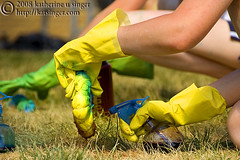 Yellow Rubber Gloves (photo.klick) Tags: grass yellow bottle tshirt rubber spray photoblog gloves tiedye dye gac liquid gustavus cmwdyellow katsingercom