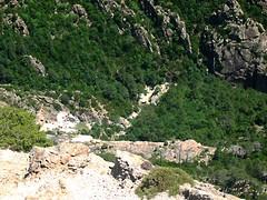 Du sommet de Punta Malanda : le canyon du Purcaraccia