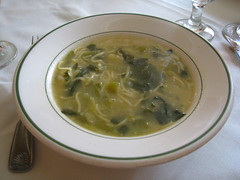 Spanish Tavern: Escarole and noodle soup
