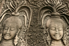 the concept of beauty (Farl) Tags: world travel bw sculpture woman art heritage colors beauty face temple site cambodia khmer dancers buddhism angkorwat carving unesco relief siemreap angkor wat apsara basrelief unprocessed asis kampuchea phototip