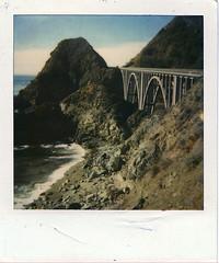 highway 1 - on the way to big sur (sanaemarilia) Tags: ocean bridge northerncalifornia polaroid pch highway1 pacificcoasthighway