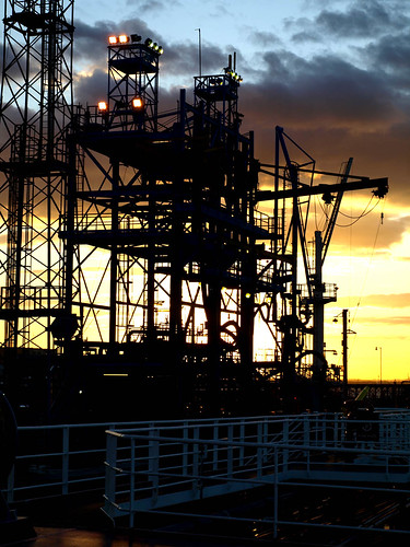 gantry sunset