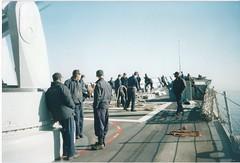 Underway, leaving Casablanca (ojisancpw) Tags: navy sailors nicholas usn uss 47 focsle ffg forcastle heaveline