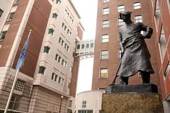 Miner statue (Mira (on the wall)) Tags: nyc newyorkcity statue photojournalism engineering columbia gothamist columbiauniversity spectator miner seas columbiadailyspectator schoolofengineeringandappliedsciences